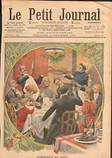 Paris la Belle Epoque la Dinde Repas de Noël en Famille France 1908 ILLUSTRATION