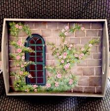 Beautiful Hand-painted Decorative Serving Tray - Lovely!