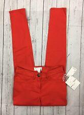 NWT Kensie Keepers Tomato Red Orange Skinny Pants-Size 2 $69