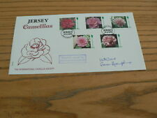 1995 Jersey First Day Cover, Camellias, signed Susan Hampshire, No 5 of 5