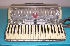 Castiglione Detroit 120 bass Accordion 3/ 5 Reed 7/ 2 reg Silver Accordian Italy