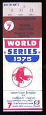 1975 World Series Game 7 Ticket Stub Boston Red Sox Vs Cincinnati Reds