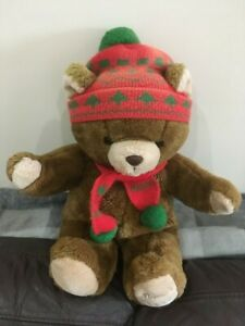1987 Harrods Christmas Teddy bear foot dated, very collectable