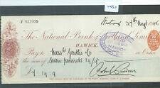 CHEQUE - CH1437 -  USED -1906 - NATIONAL BANK OF SCOTLAND, HAWICK