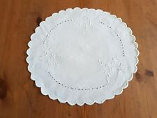 Vintage Small Embroidered Tray Cloth Doilie