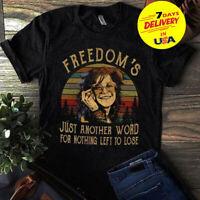 Janis Joplin Me And Bobby McGee Lyrics T Shirt Size S-3XL