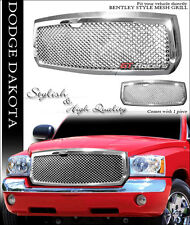 FOR 2005-2007 DODGE DAKOTA CHROME LUXURY MESH FRONT BUMPER GRILL GRILLE GUARD