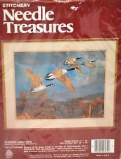 Vintage Crewel Embroidery Kit Canada Geese Goose Needle Treasures Birds New
