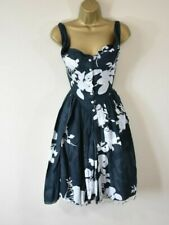 VIVIENNE WESTWOOD SATURDAY 40 Floral Raw Edge Fit & Flare Corset Party Dress