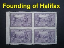1949 Block of Founding of Halifax MINT with Full Gum Never Hinged (Sc # 283)
