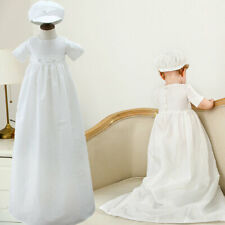 Baby Baptism Rompers Long Family Christening Gown with Hat