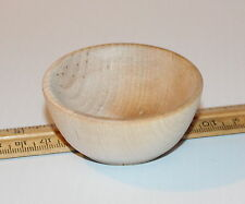 "New Small Raw Wood Bowl / Ring Cup 2-1/2"" wide x 1-1/8"" tall Unfinished"
