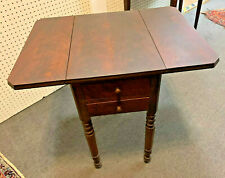 Early Nineteenth Century English Sewing/Work Table - Drop Leaf Top/Storage Bin