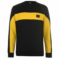 Everlast Mens Bronx Crew Sweater Jumper Pullover Long Sleeve Neck Block Colour