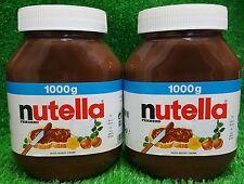 (7,50€) 2x NUTELLA im 1kg VORRATSGLAS - beliebte Nuss Nougat Creme von Ferrero