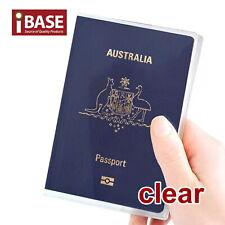 Passport Cover Transparent Protector Travel Clear Holder Organiser Wallet Case