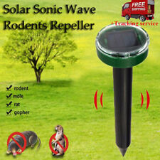 OUTDOOR SOLAR POWERED GROUND RODENT MOLE MICE MOUSE RAT REPELLER SONIC NEW