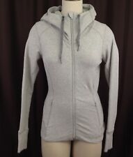 Lululemon Hoodie Jacket Sz 4 Gray Thumbholes Zip Pockets Split Back