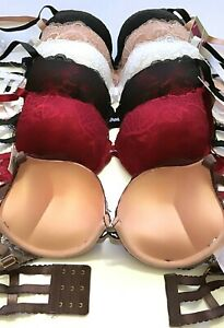 Extreme Ultimate Padding Power Lift Add 2 Cup Size Lace Strappy Push Up Bra 7011