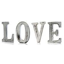 Large Freestanding Shabby Chic Whitewashed Wood Letters Wedding Vintage LOVE