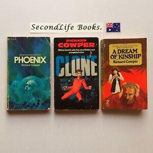 x3 Vintage RICHARD COWPER Novels ~ Pheonix Clone Dream Of Kinship. Sci Fi. H