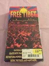 New, Sealed Free Tibet Concert Documentary Film VHS Beastie Boys.  Bjork. Fugees