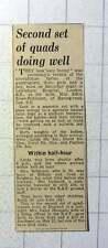 1942 Second Set Of Quads Born Lewisham Hospital Mrs Edith Knee Robinson