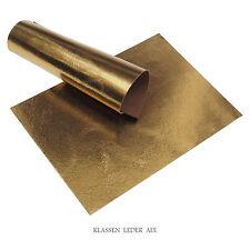 Rindleder Gold Antik Metallic Craquelé Design 2,2 mm Dick A5 Stück Leather 251