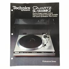 Vintage TECHNICS Quartz SL-1400MK2 Turntable Brochure