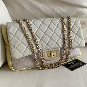 Chanel Authentic Reissue Pastel Fabric Flap Bag 2009 Pre-Loved
