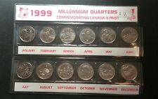 Canada 1999 Millennium Quarters 25 cents set 12 UNC coins Complete Set Lot#H01