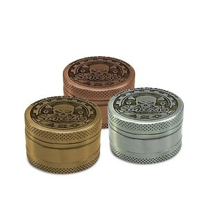 SMIZZLE 1.5-inch 3-Chamber Metal Grinder with FREE King Sample Pack