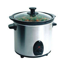 Electric Stainless Steel 3.5 Quart Slow Cooker w/ Automatic Setting