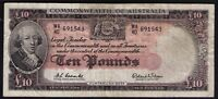 Australia R-63 (1960) Ten Pounds - Coombs / Wilson  Reserve Bank FINE