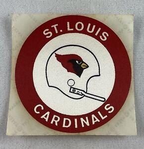 NFL 1972 St. Louis Cardinals Schwebel Bread Cloth Football Helmet Sticker - V2