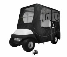 """Golf Cart Enclosure 4 Person Fairway Fits Long Roof Dimensions up to 80"""" L Black"""