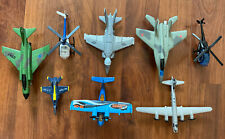 Vintage Airplane Helicopters Matchbox Die cast Planes & Plastic Mixed Lot Of 8