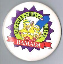 1994 The Simpsons Ramada Hotel Motel Advertising Television Cartoon Summer Break