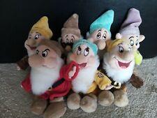 Collectable Plush Toy Disney set of 7 Dwarfs