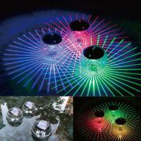 Solar Multi Colour Changing Floating LED Garden Pond Lights - Set of 3 Globes
