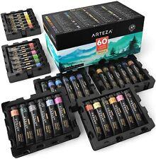 Arteza Watercolor Premium Artist Paint, 12ml Tubes - Set of 60