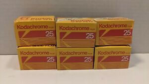Kodak Kodachrome 25 KM 35mm Color Slide Film 36/24/Exposure 6 Packs Expired 5/86