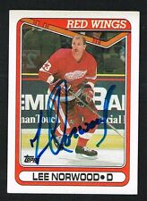 Lee Norwood #285 signed autograph auto 1990-91 Topps Hockey Trading Card