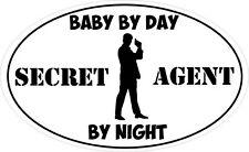 BABY by giorno agente segreto di notte-Detective / SPY Adesivo Vinile 16 cm X 9cm