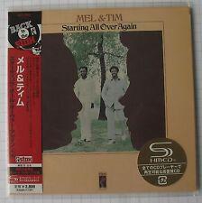 Mel & Tim-STARTING ALL OVER AGAIN Japon SHM MINI LP CD NEUF RAR! UCCO - 9548