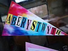 ABERYSTWYTH Holiday Pennant retro car window sticker