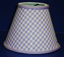 Chandelier Gingham Shade Blue Green Pink Purple Red Yellow