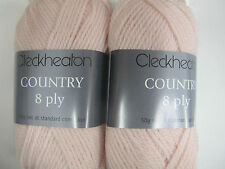 CLECKHEATON COUNTRY 8 PLY 10 BALLS PALE PINK,PURE WOOL,NO 2336