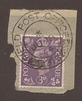 CANADA FIELD POST OFFICE CANCEL DATED ON PIECE