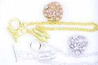 Joli cœur en crystal chaussures bracelet multiple choix